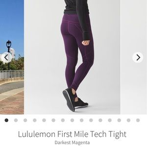Lululemon First Mile Tech Tight - Size 6
